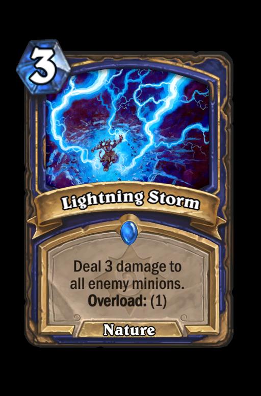 Lightning Storm Hearthstone kártya