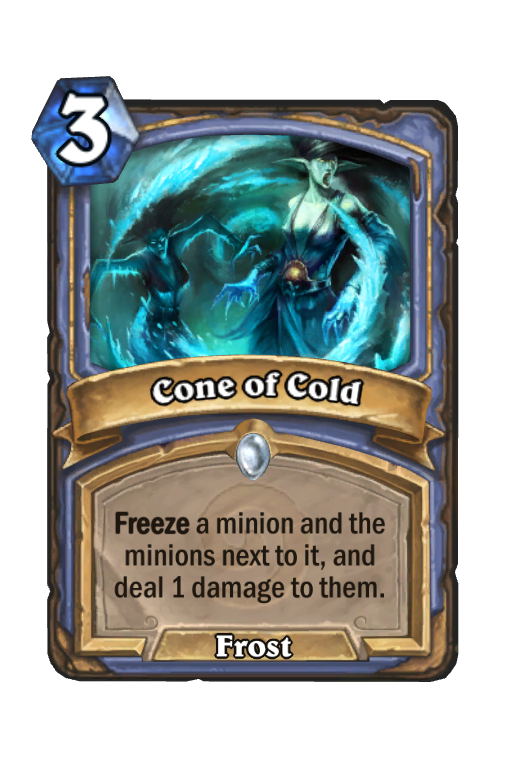 Cone of Cold Hearthstone kártya