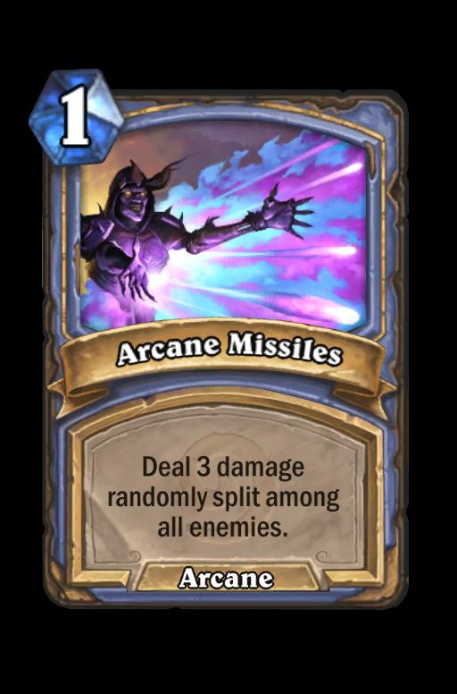 Arcane Missiles Hearthstone kártya