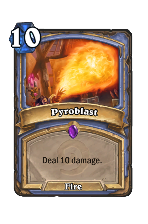 Pyroblast Hearthstone kártya