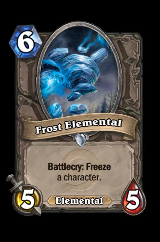 Frost Elemental Hearthstone kártya