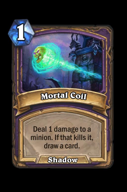 Mortal Coil Hearthstone kártya