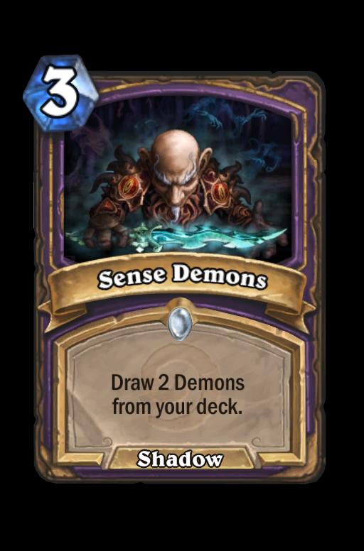 Sense Demons Hearthstone kártya