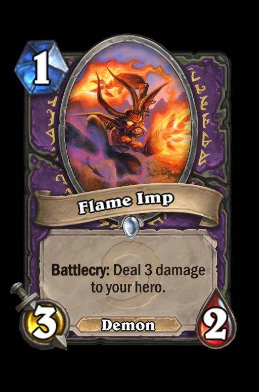 Flame Imp Hearthstone kártya