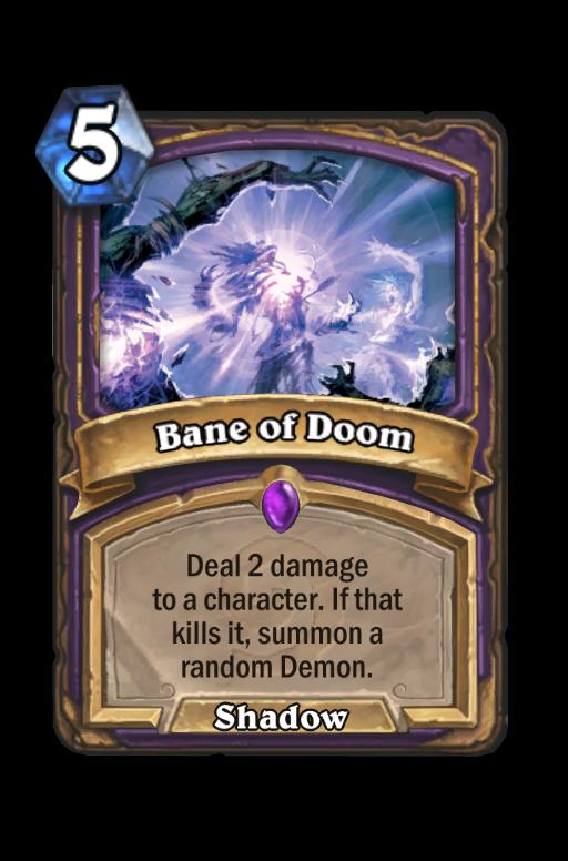 Bane of Doom Hearthstone kártya