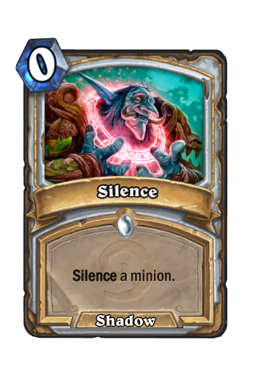 Silence Hearthstone kártya
