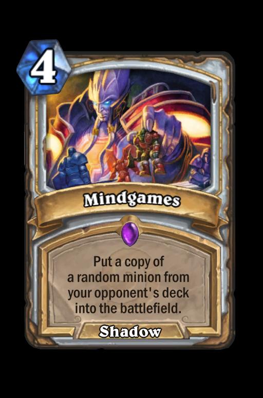 Mindgames Hearthstone kártya