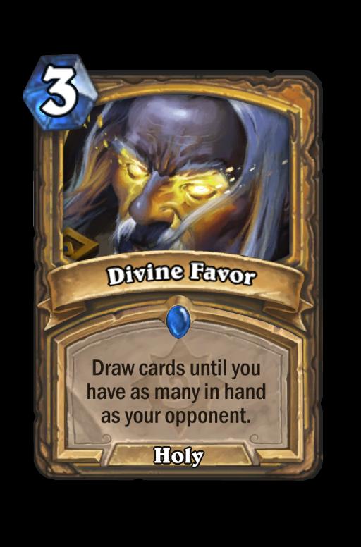 Divine Favor Hearthstone kártya