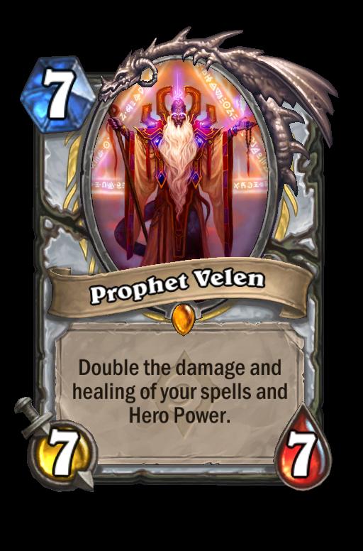 Prophet Velen Hearthstone kártya