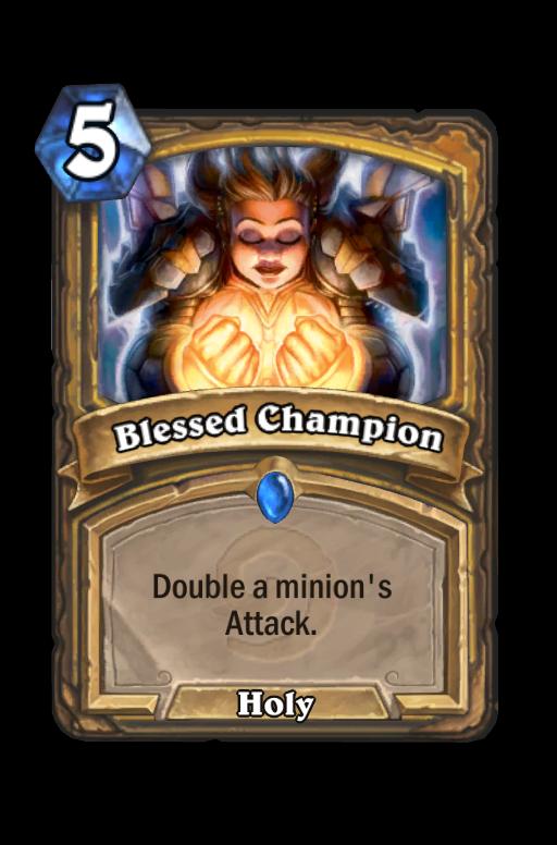 Blessed Champion Hearthstone kártya