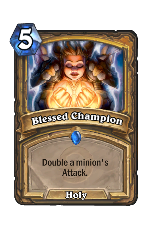 Blessed Champion Hearthstone kártya