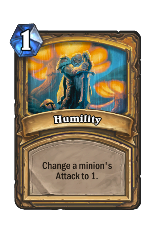 Humility Hearthstone kártya