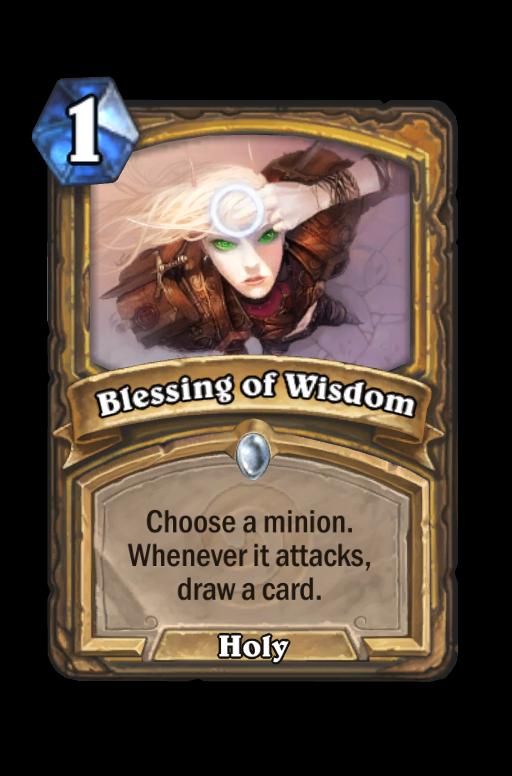 Blessing of Wisdom Hearthstone kártya