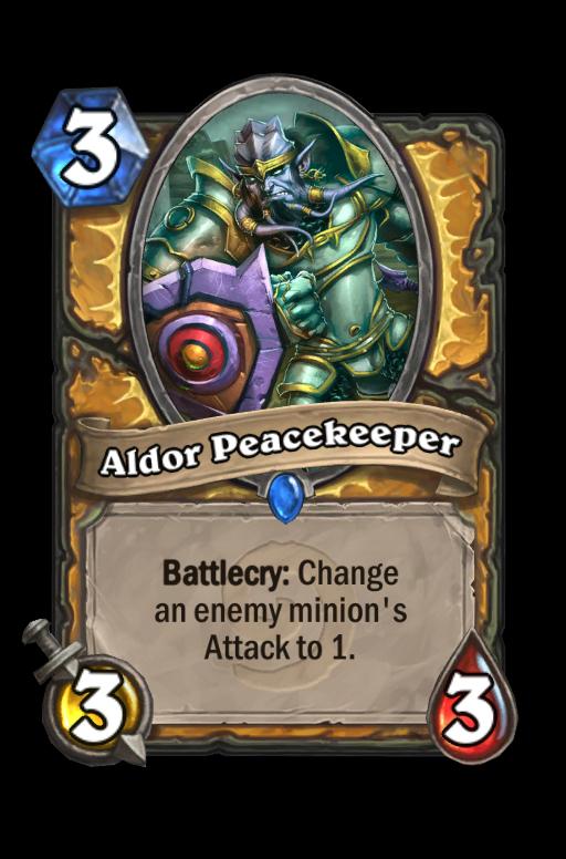 Aldor Peacekeeper Hearthstone kártya