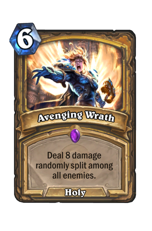 Avenging Wrath Hearthstone kártya