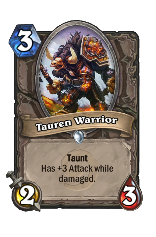 Tauren Warrior Hearthstone kártya