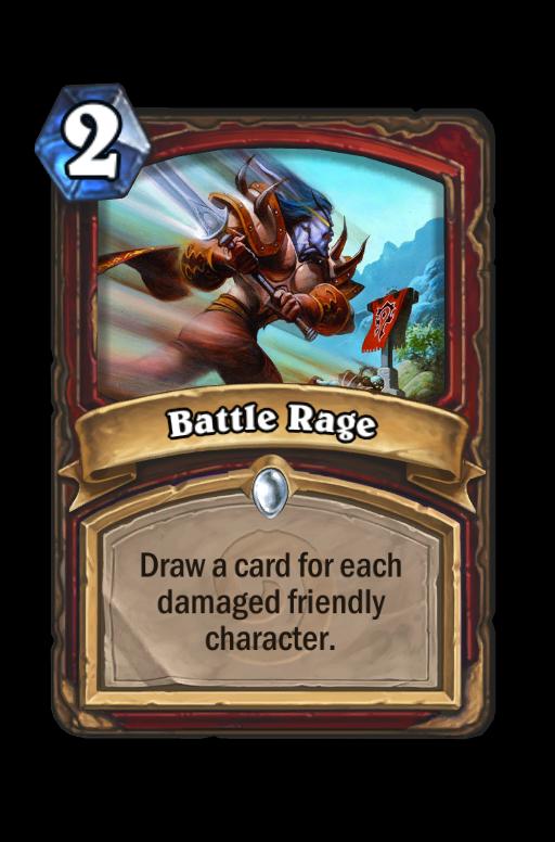 Battle Rage Hearthstone kártya