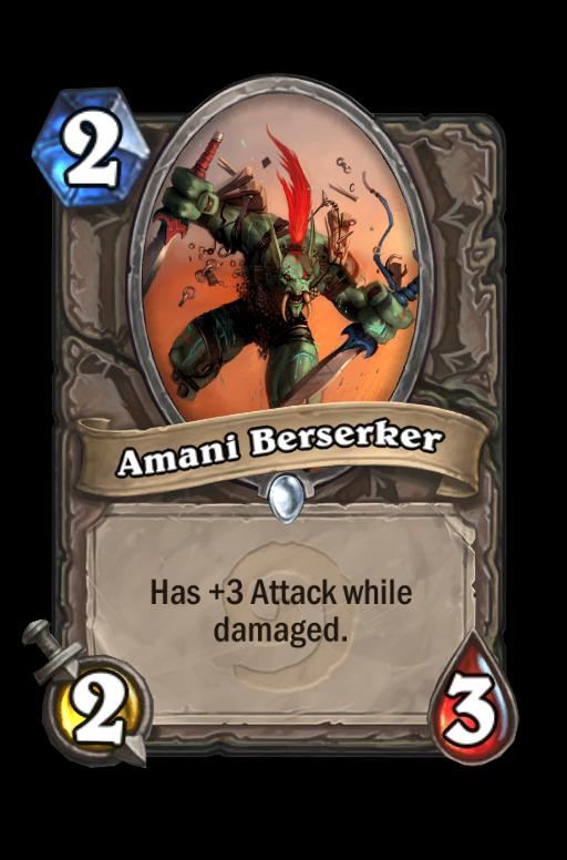 Amani Berserker Hearthstone kártya