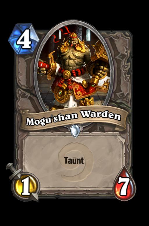 Mogu'shan Warden Hearthstone kártya
