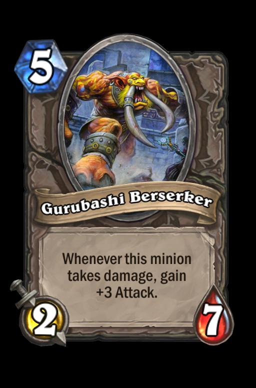 Gurubashi Berserker Hearthstone kártya