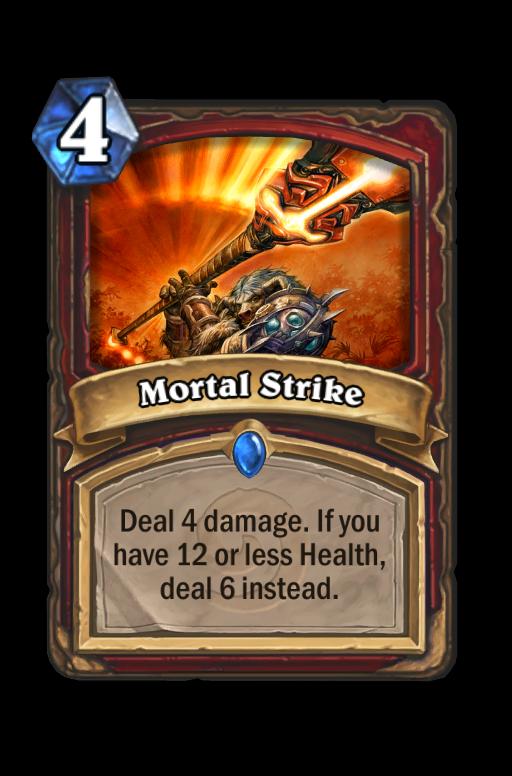 Mortal Strike Hearthstone kártya