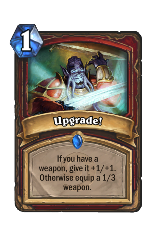 Upgrade! Hearthstone kártya