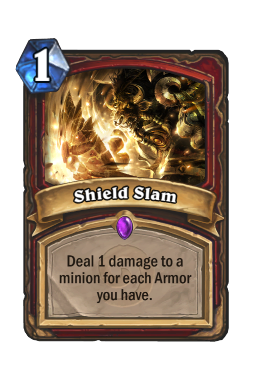 Shield Slam Hearthstone kártya