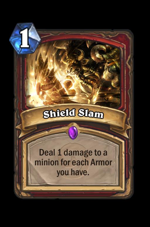 Shield Slam Hearthstone kártya