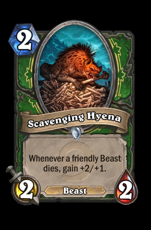 Scavenging Hyena Hearthstone kártya