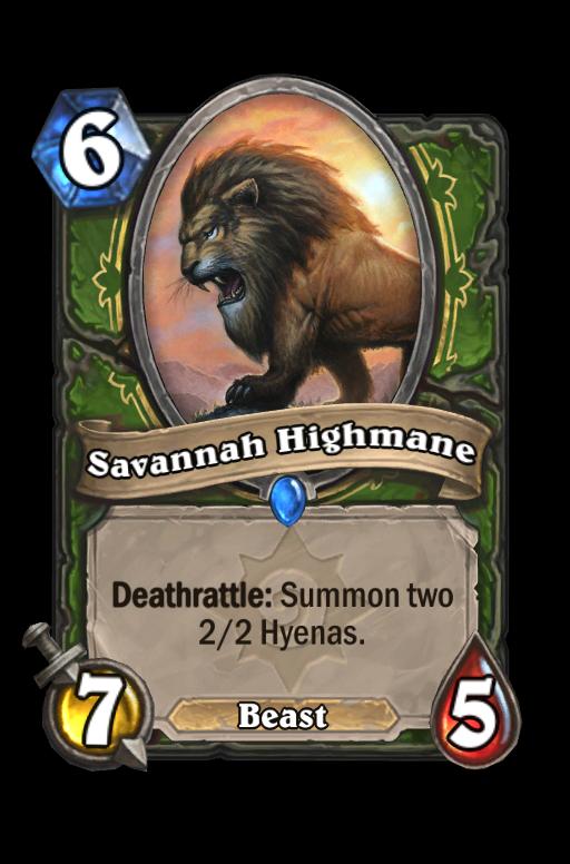 Savannah Highmane Hearthstone kártya