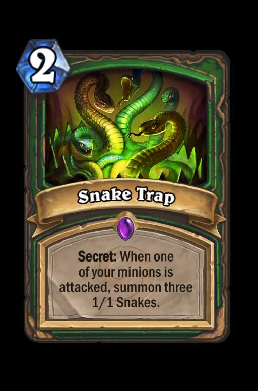 Snake Trap Hearthstone kártya