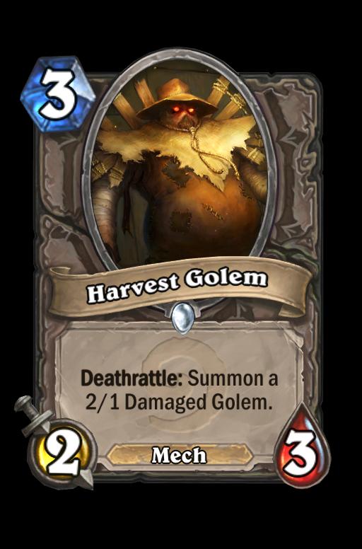 Harvest Golem Hearthstone kártya