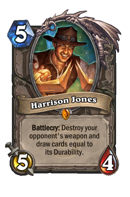 Harrison Jones Hearthstone kártya
