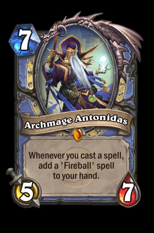 Archmage Antonidas Hearthstone kártya