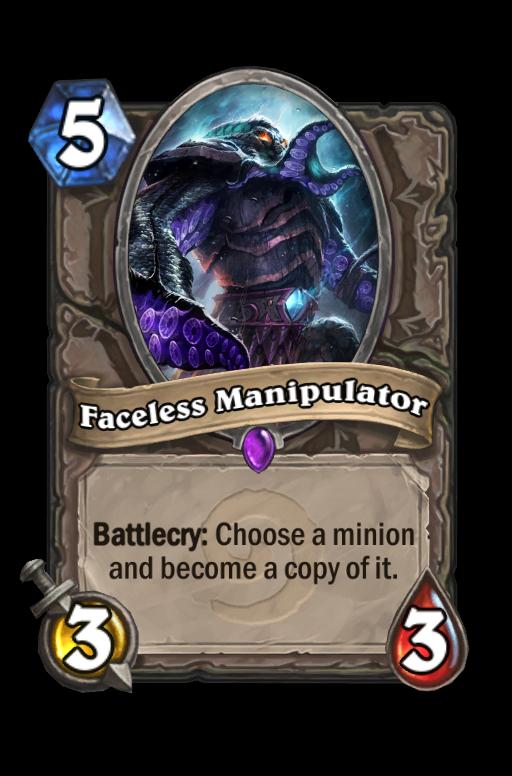 Faceless Manipulator Hearthstone kártya