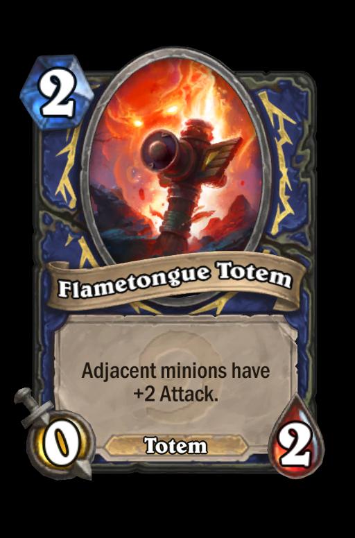 Flametongue Totem Hearthstone kártya