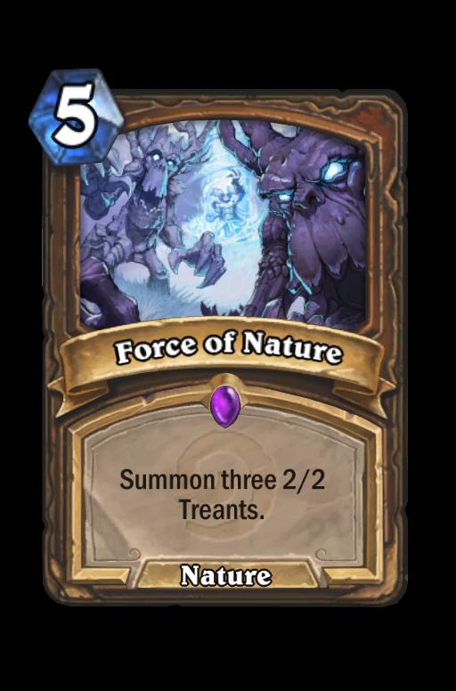 Force of Nature Hearthstone kártya