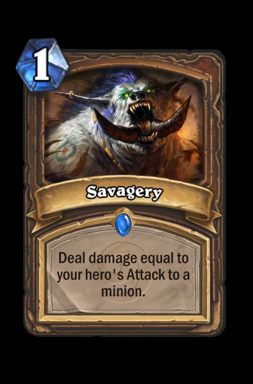 Savagery Hearthstone kártya