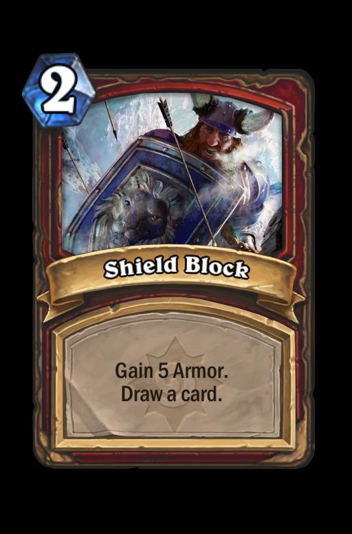 Shield Block Hearthstone kártya