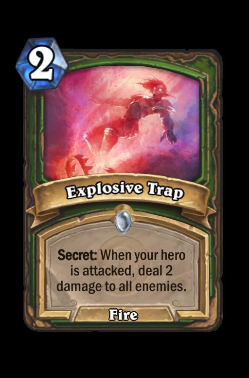 Explosive Trap Hearthstone kártya