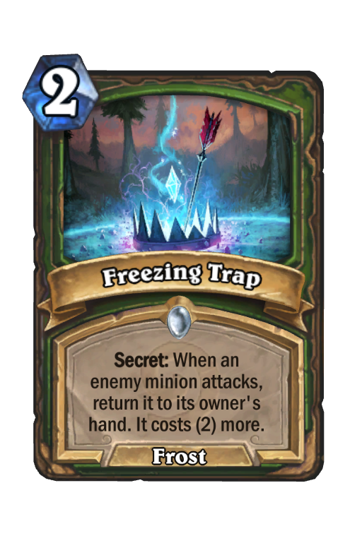 Freezing Trap Hearthstone kártya