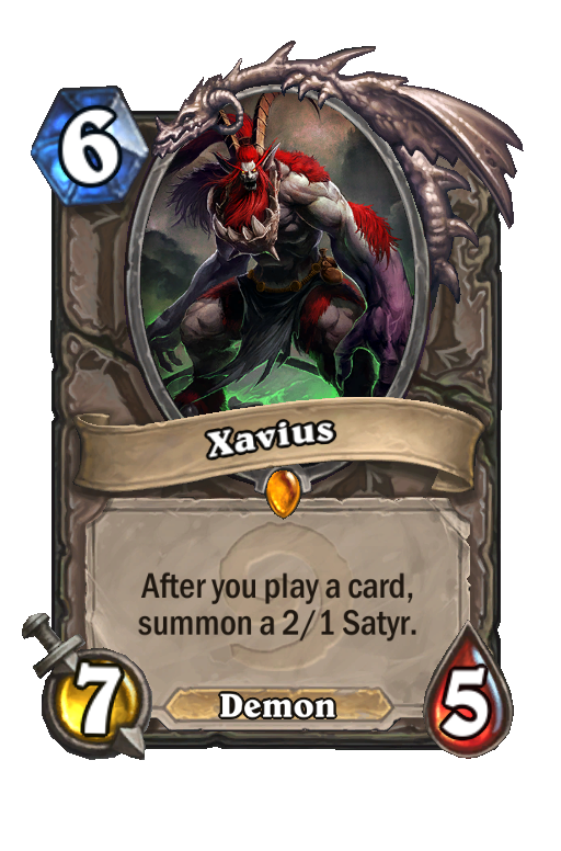 Xavius Hearthstone kártya