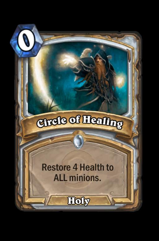 Circle of Healing Hearthstone kártya