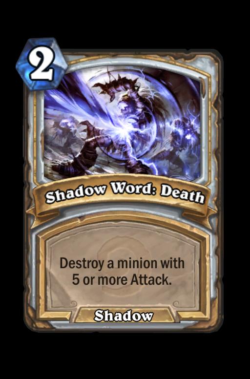 Shadow Word: Death Hearthstone kártya