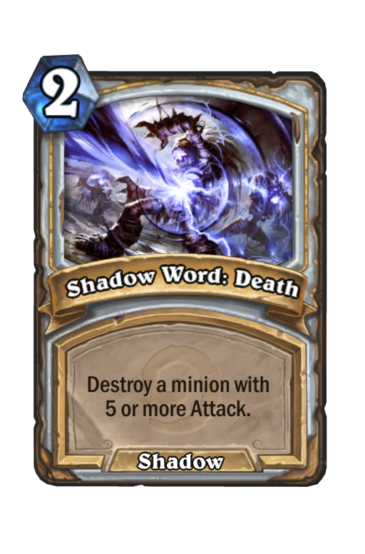 Shadow Word: Death Hearthstone kártya