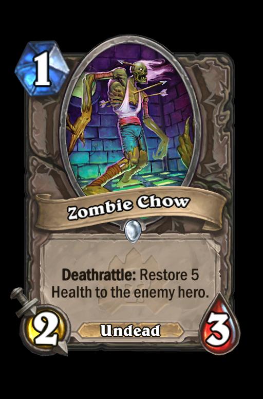Zombie Chow Hearthstone kártya