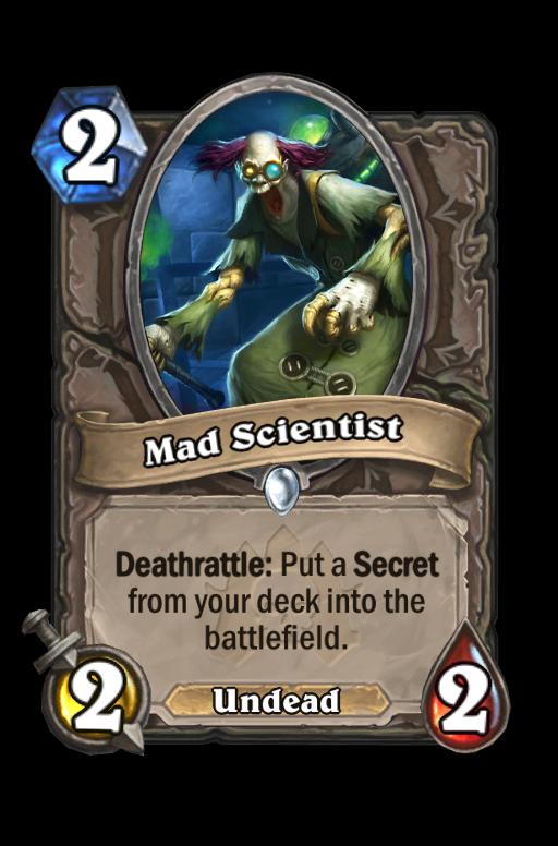 Mad Scientist Hearthstone kártya