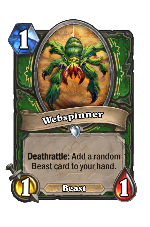 Webspinner Hearthstone kártya