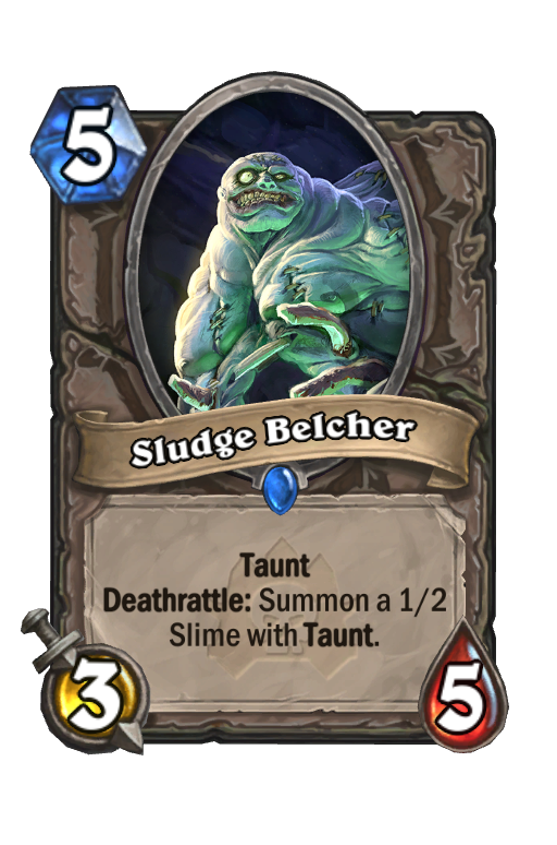 Sludge Belcher Hearthstone kártya