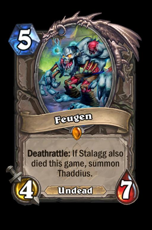 Feugen Hearthstone kártya